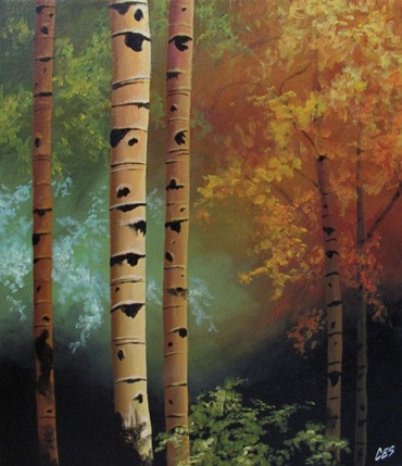 seasons landscape painting