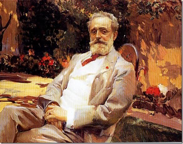Joaquin Sorolla - retrato del pintor raimundo de madrazo