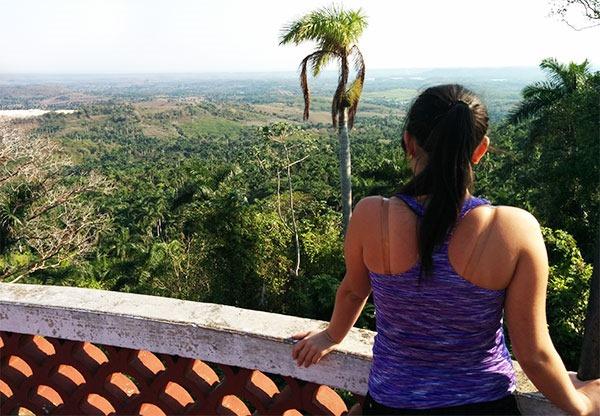 En el mirador del parque Las Escaleras de Jaruco