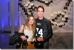 MIAMI BEACH, FL - DECEMBER 03: Ashley Simpson (L) and Nick Remsen attend the Porsche Design x Thierry Noir Art Basel Miami Beach Event at The Temple House on December 3, 2013 in Miami Beach, Florida.  (Photo by Neilson Barnard/Getty Images for Porsche Design)