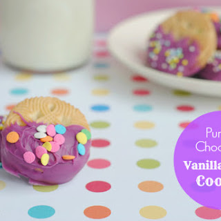 Purple Chocolate Vanilla Creme Cookies