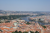View of Prague from the top of Petrin Tower