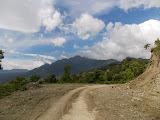 The Matebean mountain range seen on approach to Baguia (Dan Quinn, December 2013)