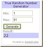 random number draw