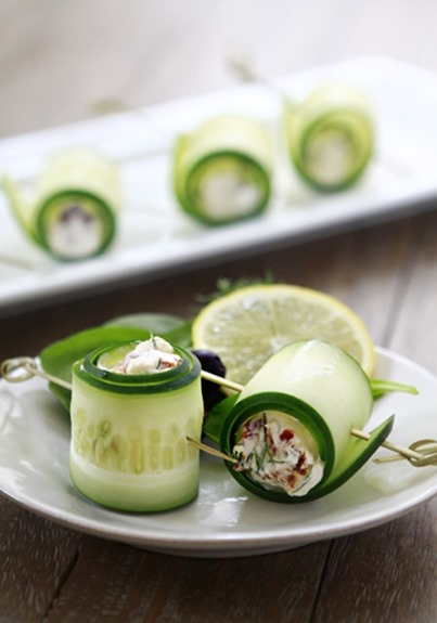 Don't these Cucumber Feta Rolls by Good Life Eats look refreshing ...