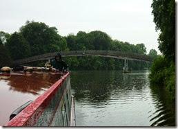 elegant footbridge in the rain above temple lock