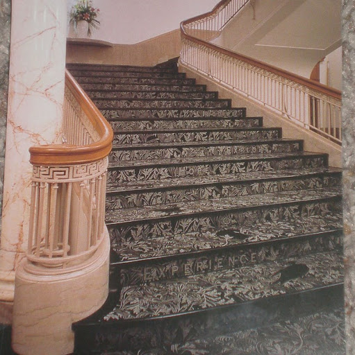 postcard of the Garden Stairs at the public library