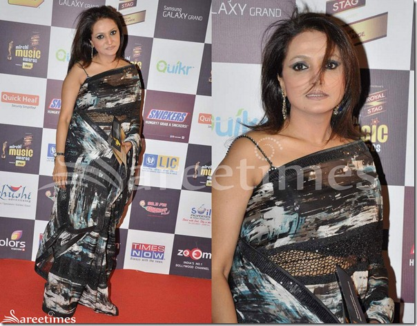 Black_Printed_Georgette_Saree
