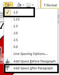 05 line spacing