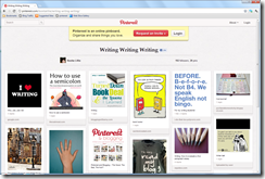 Pinterest writing screenshot