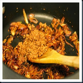 Once golden brwon, add coconut masala mixture