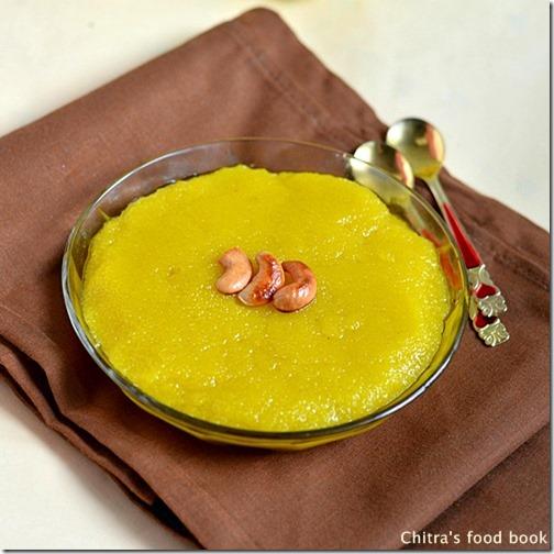 Microwave-rava-kesari-recipe