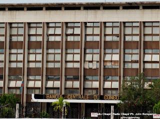 Siège de la BCC à Kinshasa. Radio Okapi/ Ph. John Bompengo