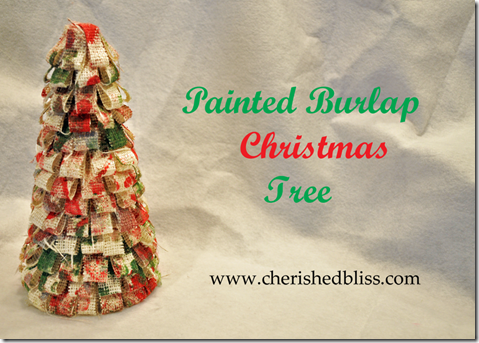 Burlap Christmas Tree 2