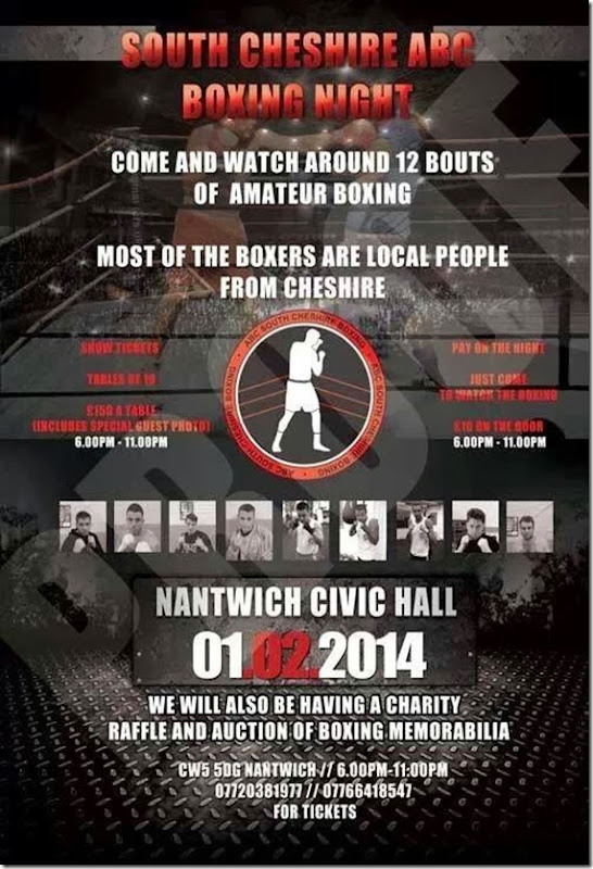 South Cheshire ABC - Boxing Night - Nantwich Civic Hall - Saturday 1st February 2014