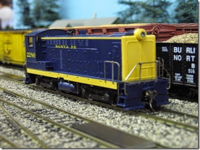 IMG_5387 Atchison, Topeka & Santa Fe S12 #2280 on the LK&R HO-Scale Layout at the WGH Show in Portland, OR on February 17, 2007
