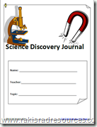 Science Discovery Journal - for Teaching Concepts and the Scientific Method