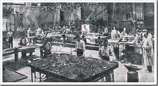 Fábrica de lámparas Martínez y Orts. 1919