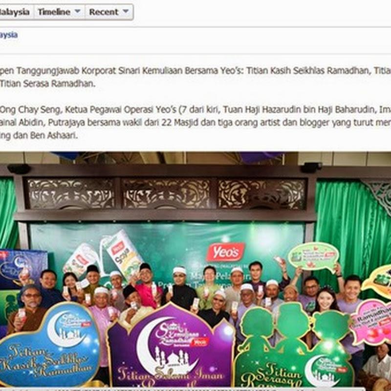 Sinari Kemuliaan Ramadhan Bersama Yeo's