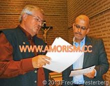 DSC09736 (1) Kaj Engelhart och professor i islam Mohammad Fazlhashemi. Med amorism