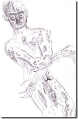 Cadavru in putrefactie - Decaying body drawing