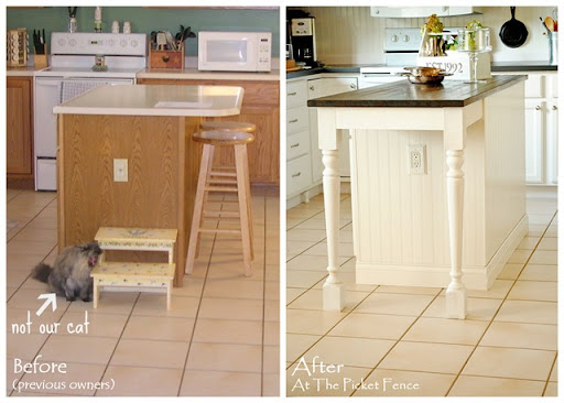 kitchen island before and after kitchen island makeover tutorial   at the picket fence  rh   atthepicketfence com