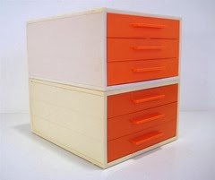 orange face drawers oblique