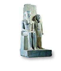 Gruppo scultoreo di Faraone con Dio Amon_1333-1323aC_Cat768