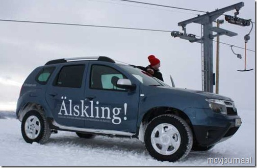 Dacia Duster in de winter 01
