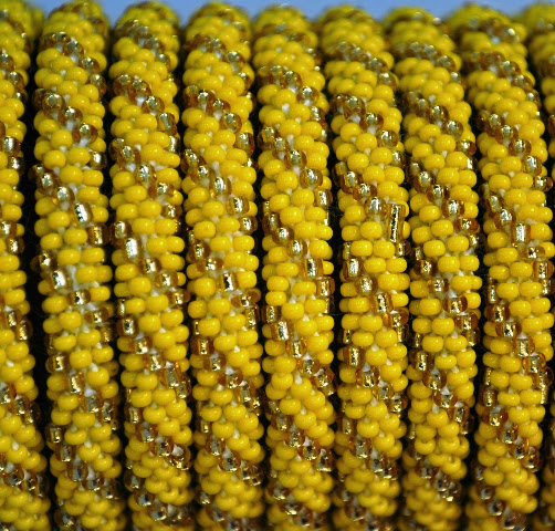 Rollover Yellow Series Bead Bracelets