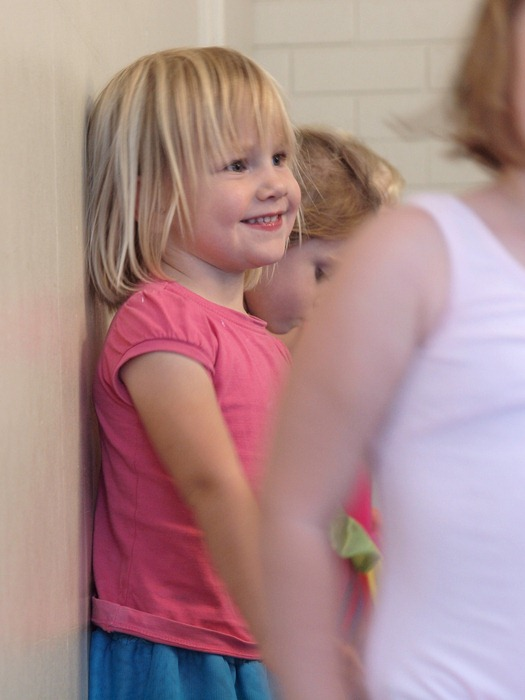 at ballet lesson