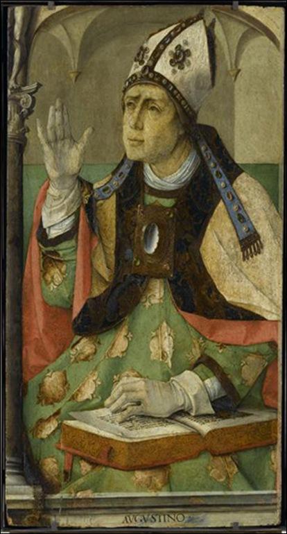 Exemple de gant pontifical 14ème siècle