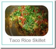 taco rice skillet button