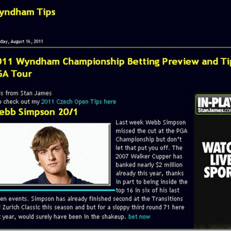 Winner Alright: Our Tip Webb Simpson Wins Wyndham