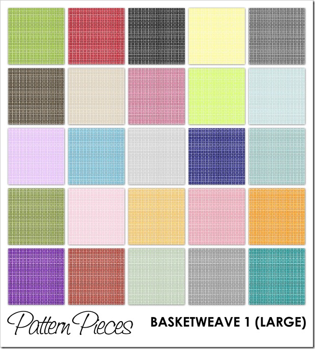 IMAGE - Pattern Pieces - Basketweave 1 (Large)