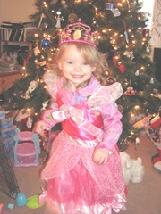 Christmas Day 2012 Bellz in her princess dress in front of tree3