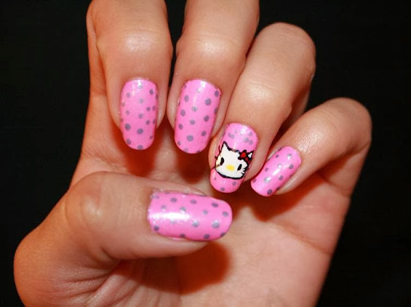 HelloKitty Pink Nail Designs Pictures Of Hello Kitty Nail Designs