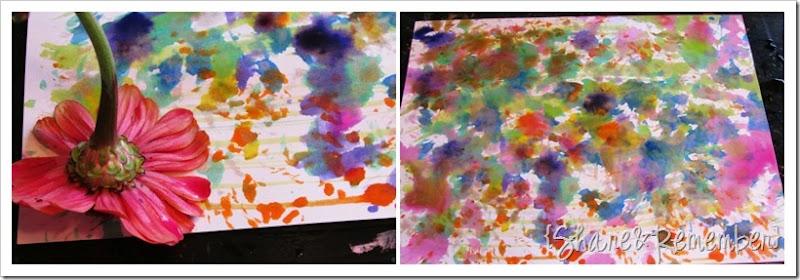 painting with flowers preschool
