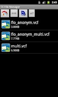 Screenshot of Import vCard Attachment DEMO