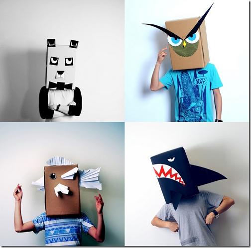 disfraz con caja de carton