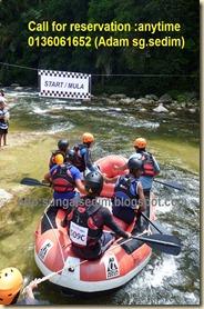 Rafting sungai sedim