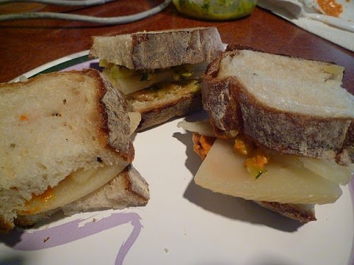 A trio of sandwiches.