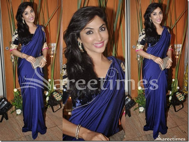 Blue_Plain_Saree