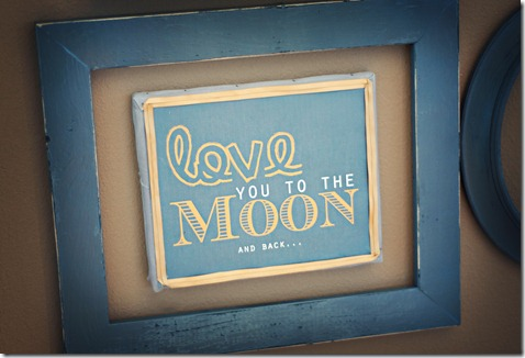Love to the moon frame