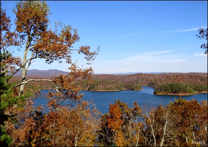 scenic overlook at Carters Lake,  Ellijay, Georgia