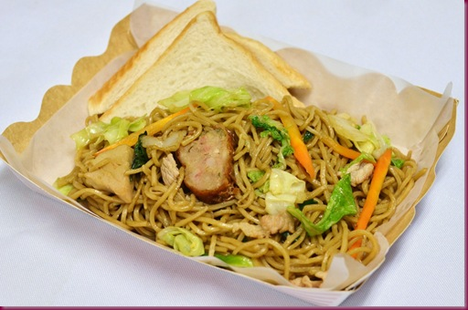 Pancit Canton with Toast
