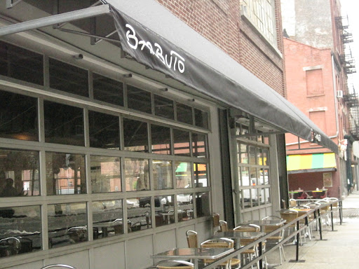 Outside eating area at Barbuto.