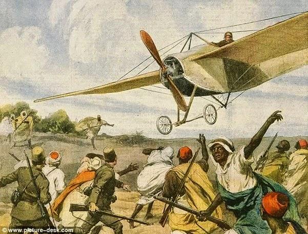 O primeiro ataque aéreo