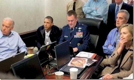 BHO-Cabinet watching bin Laden take-down
