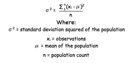 Standard deviation of a population